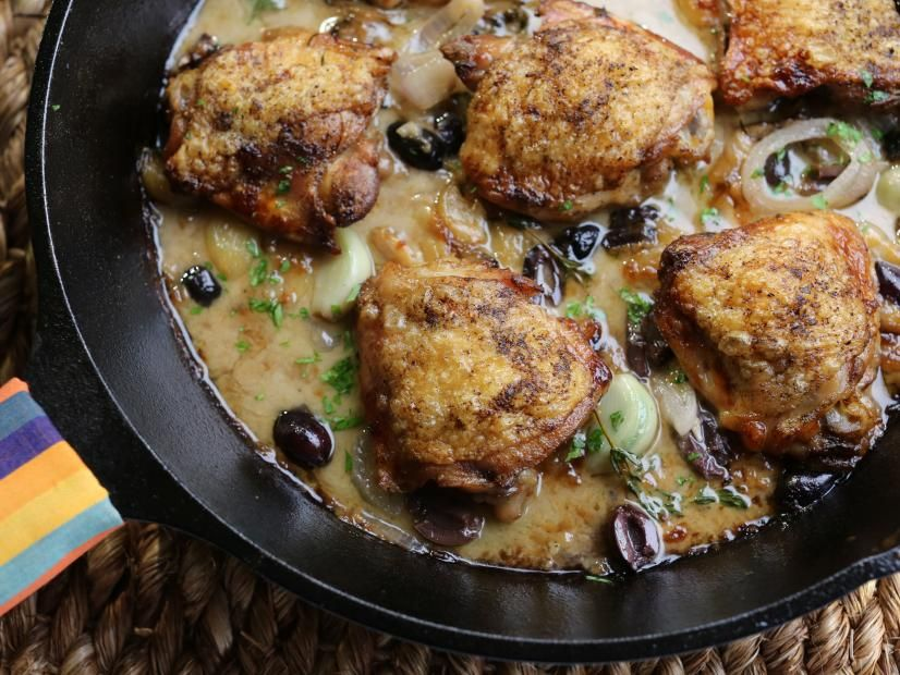 Heirloom Garlic Clove Chicken Thighs #valeriebertinellirecipes