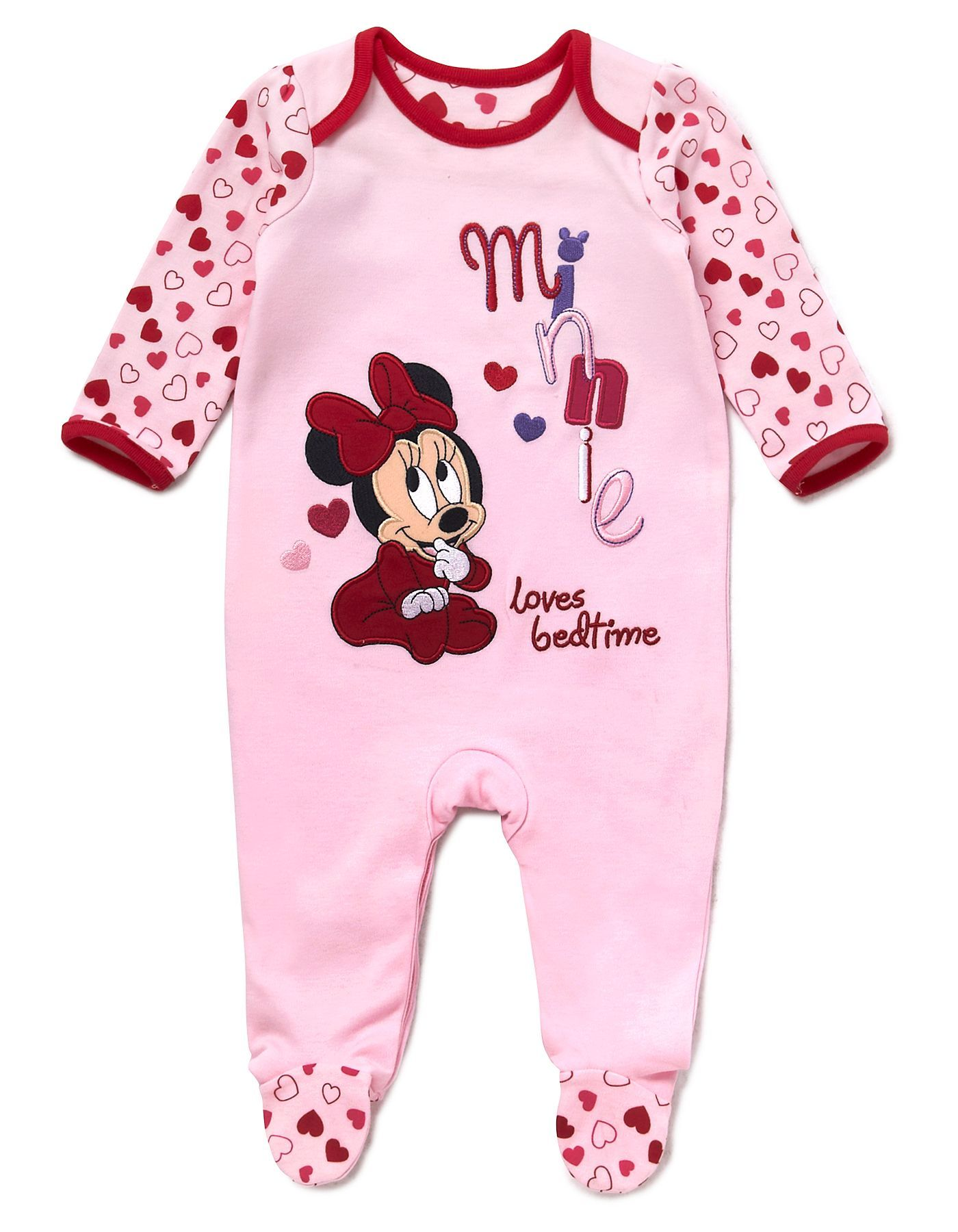 43dce9548b98 Minnie Mouse Baby Sleepsuit | | George at ASDA | Disney Babies ...