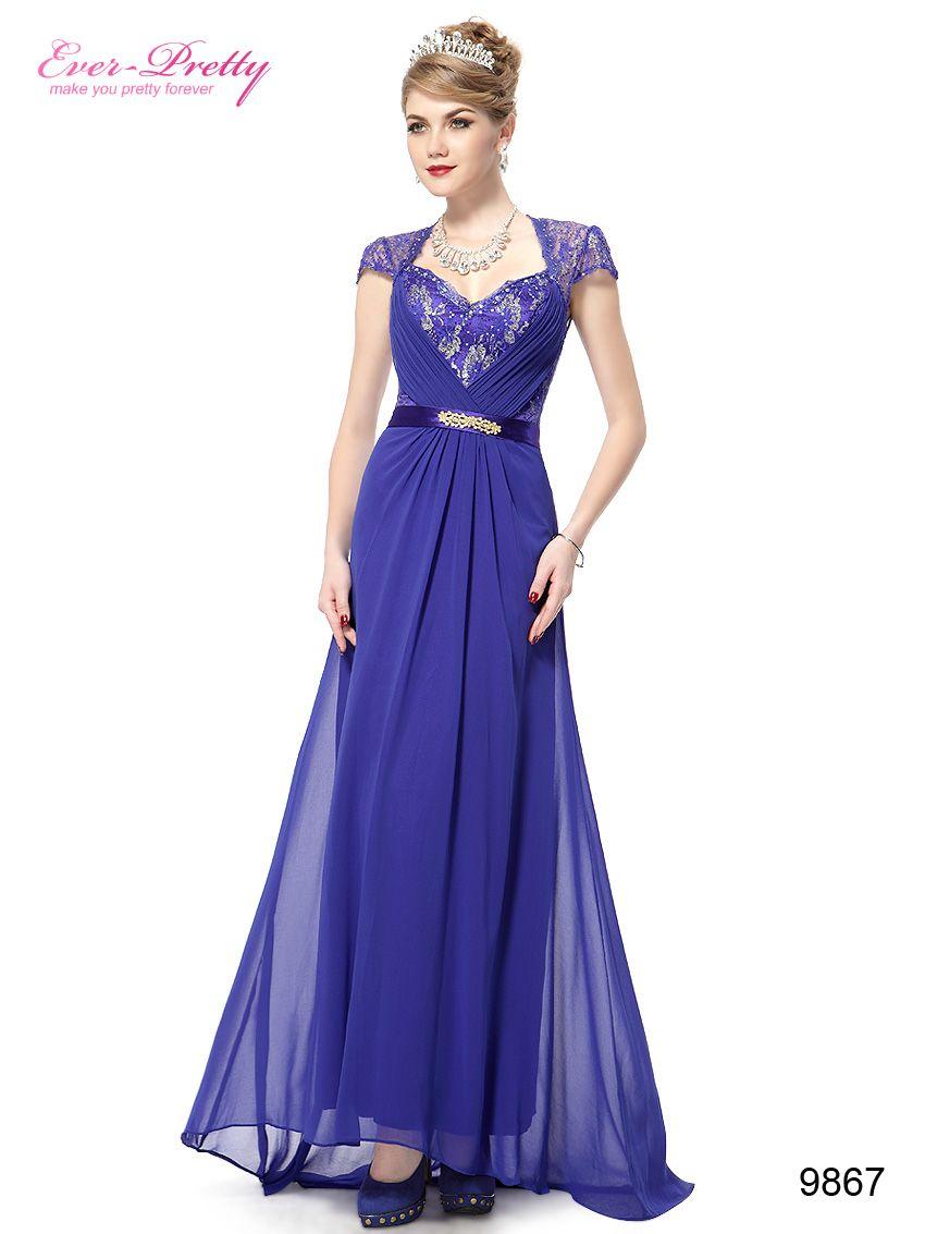 Maxi Womens CAP Sleeves Long Wedding Bridal Evening Prom Dress ...