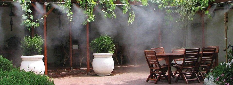 Magique Mist Misting Systems Evaporative Cooling Systems Dry Mist Misting Cooling System Mists