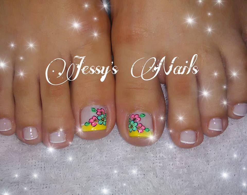 U as decoradas pies u as pies delicadas nail art for Decoracion unas en pies