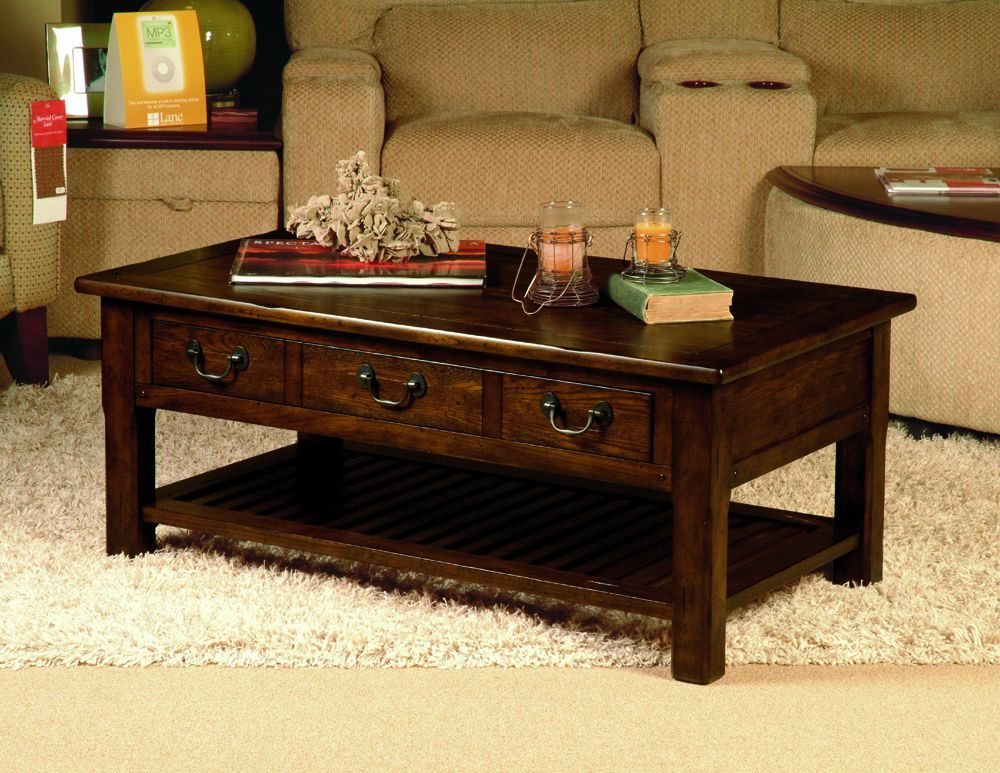 Home Gallery Furniture For Wood Grand Junction Rectangular Cocktail Table