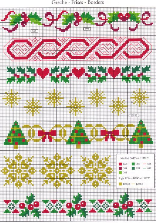 Christmas cross stitch border … | Pinteres…