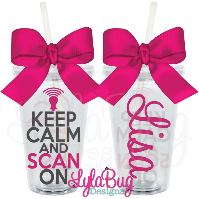 Ultrasound tech keep calm scan on personalized acrylic tumbler gift negle Choice Image