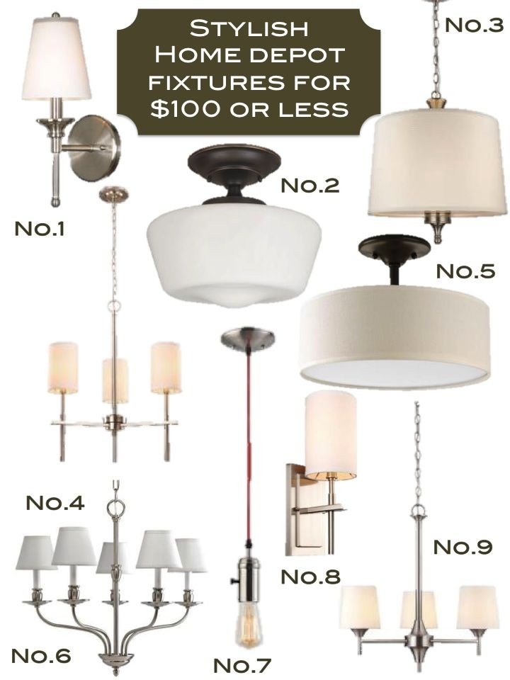 Home Depot 100 Or Less Light Fixtures Bedroom Fixtureshouse Lightinglighting