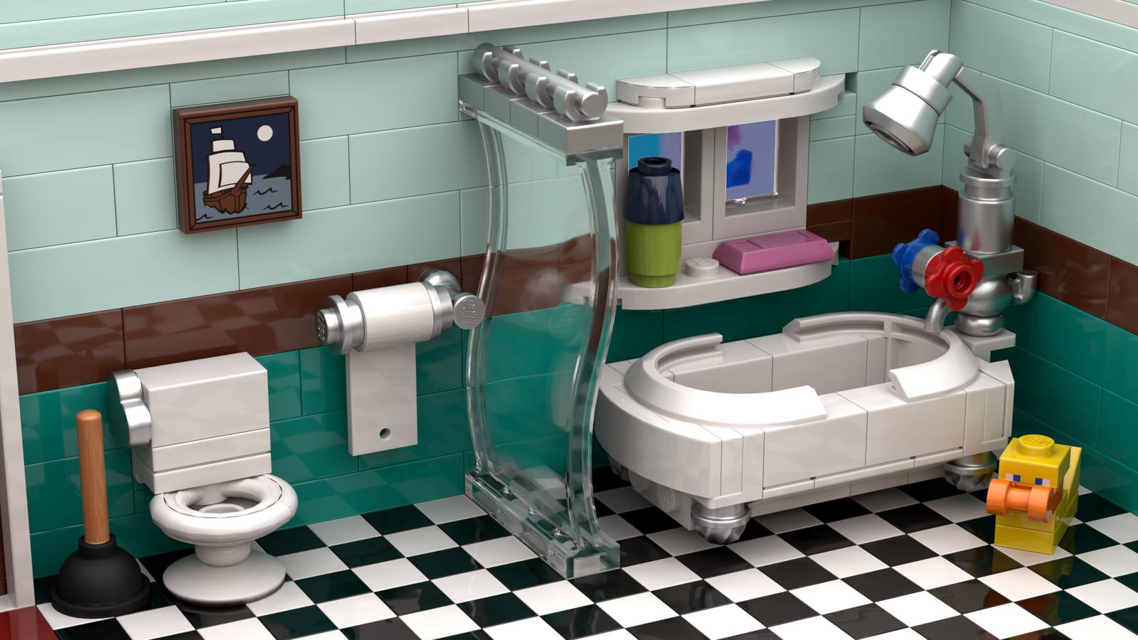 The Lou In 2020 Lego Furniture Lego Bathroom Lego Design