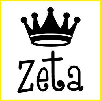 Zeta Tau Alpha Greek Symbol Crown Stamp Zta Pinterest Zeta Tau