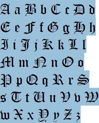 middeleeuwse alfabet