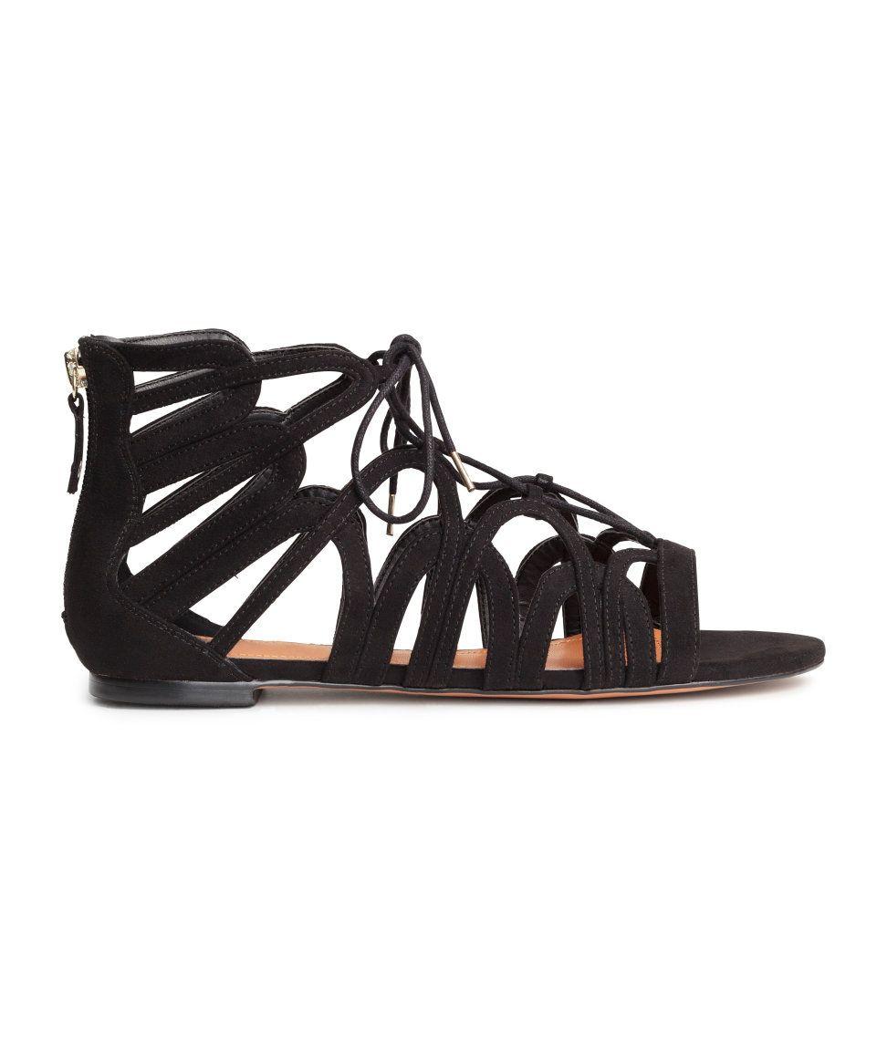 shoe lace sandals