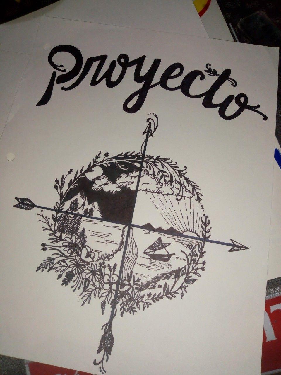 Caratula De Proyecto Caratula Arte Dibujo Tumblr Portadas De Proyectos Libreta De Apuntes Portada De Cuaderno De Dibujos