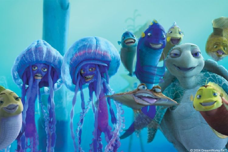 The dreamworks movie shark tale receieved backlash for for Fish story movie