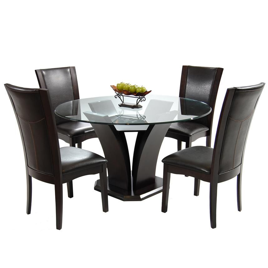 Daisy Brown 5 Piece Casual Dining Set Dining Room Table Decor