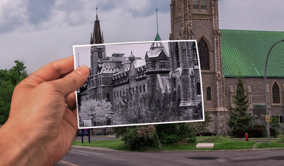 Create a Fake Past vs Present Photoshop Effect in Photoshop
