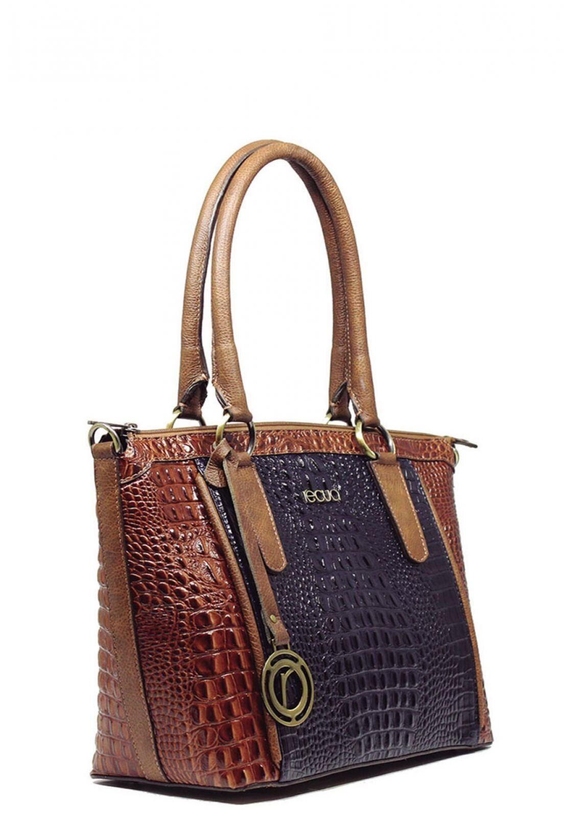 Retreat Bolso de cuero Fashion Bag Croco Navy / Caramel