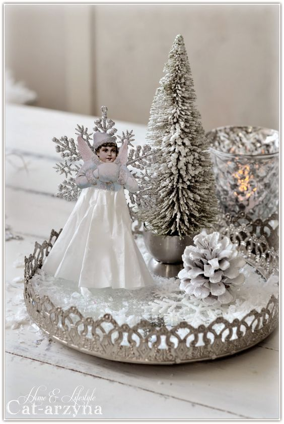 Divine And Beautiful Angel Christmas Decoration Ideas - Christmas Celebration - All about Christmas #christmasdecorations