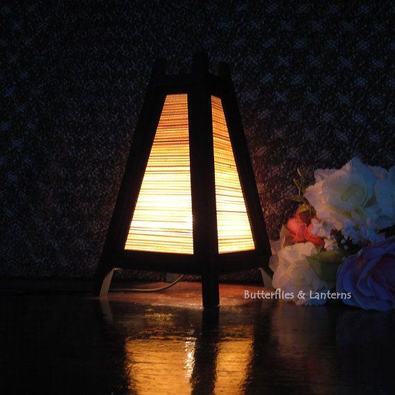 lampe de bambou table lanterne lampe de chevet lampe de bureau asiatique oriental lumineux. Black Bedroom Furniture Sets. Home Design Ideas