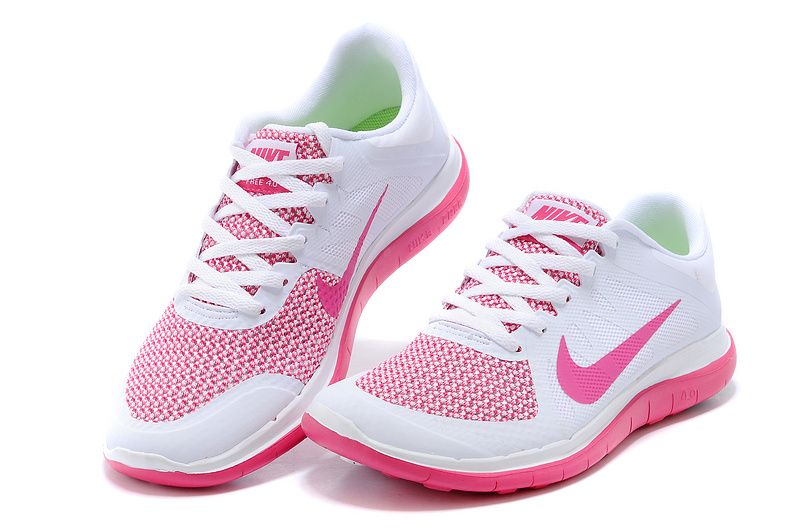 wholesale dealer e7c8c 13a91 Nike Free 4.0 V4 Running Shoes Women's White Pink-red Shopping 642200-100