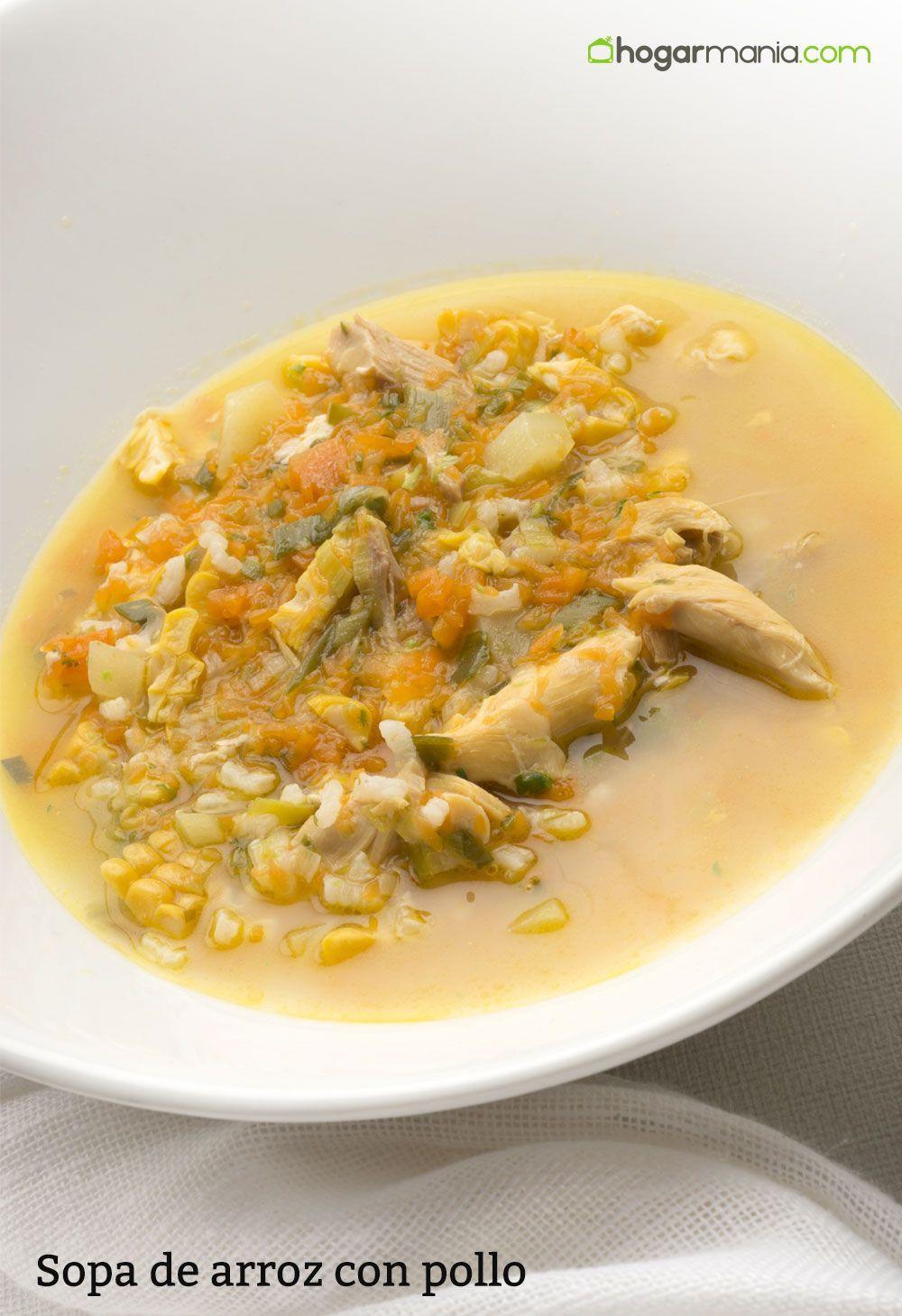 Receta De Sopa De Arroz Con Pollo Karlos Arguiñano Receta Sopa De Arroz Con Pollo Sopa De Arroz Arroz Con Pollo