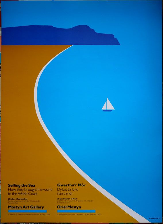 Wales exhibition poster by Tom Eckersley
