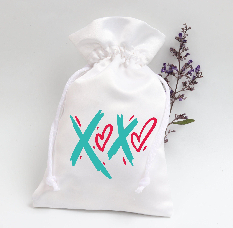 XOXO Wedding Party Favor Bags  Party Favor Bags  Satin Favor | Etsy