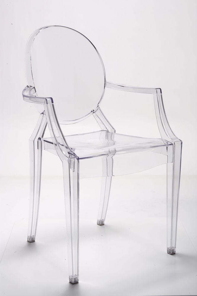 Louis Ghost Chair Inspired Plexiglas Stuhl Klar Acryl Transparent