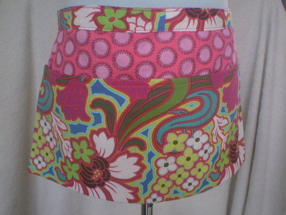 Fabric in stock Utility Apron With Pockets in Amy Butler by HeartC, $28.00