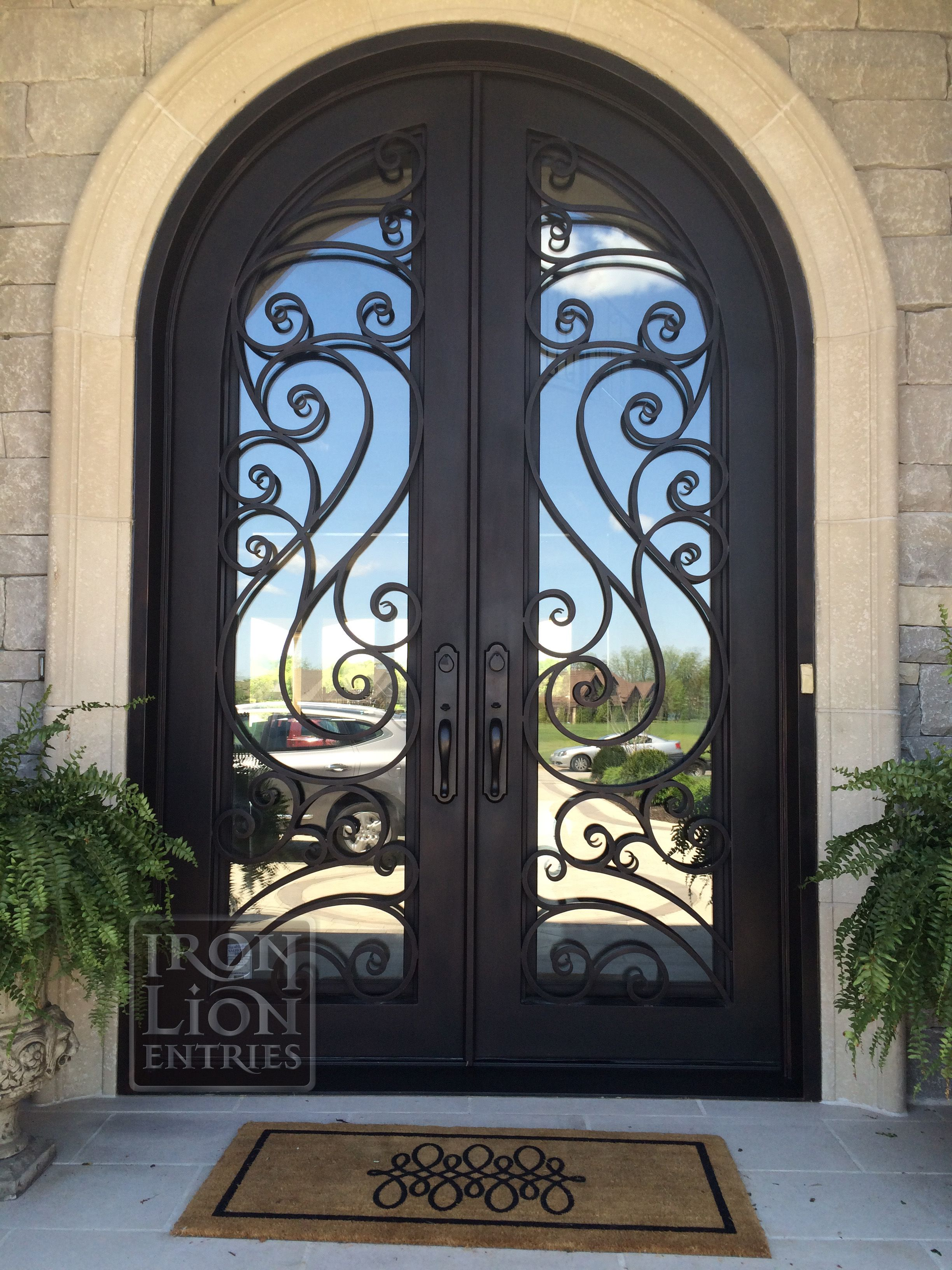 Wrought iron entry door ironentrydoor custom 10ft door wrought iron entry door ironentrydoor custom 10ft door installation rubansaba