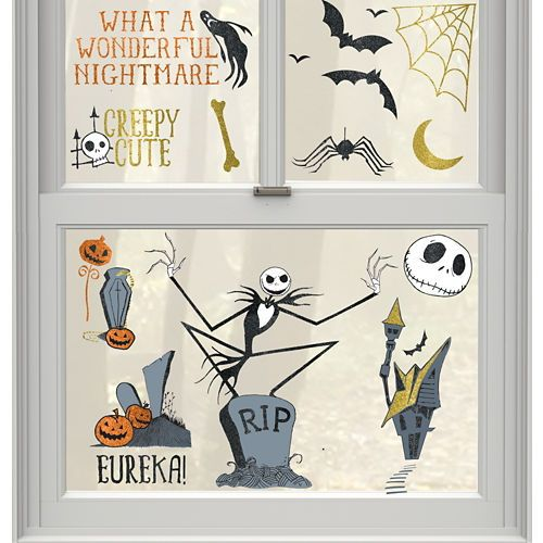 the nightmare before christmas cling decals 15ct party city