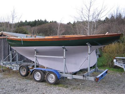 """HOWTH 17 """"Deilginis"""" ready for the trip to home harbour: Howth. Restoration by Anke Eckardt and Rui Ferreira."""