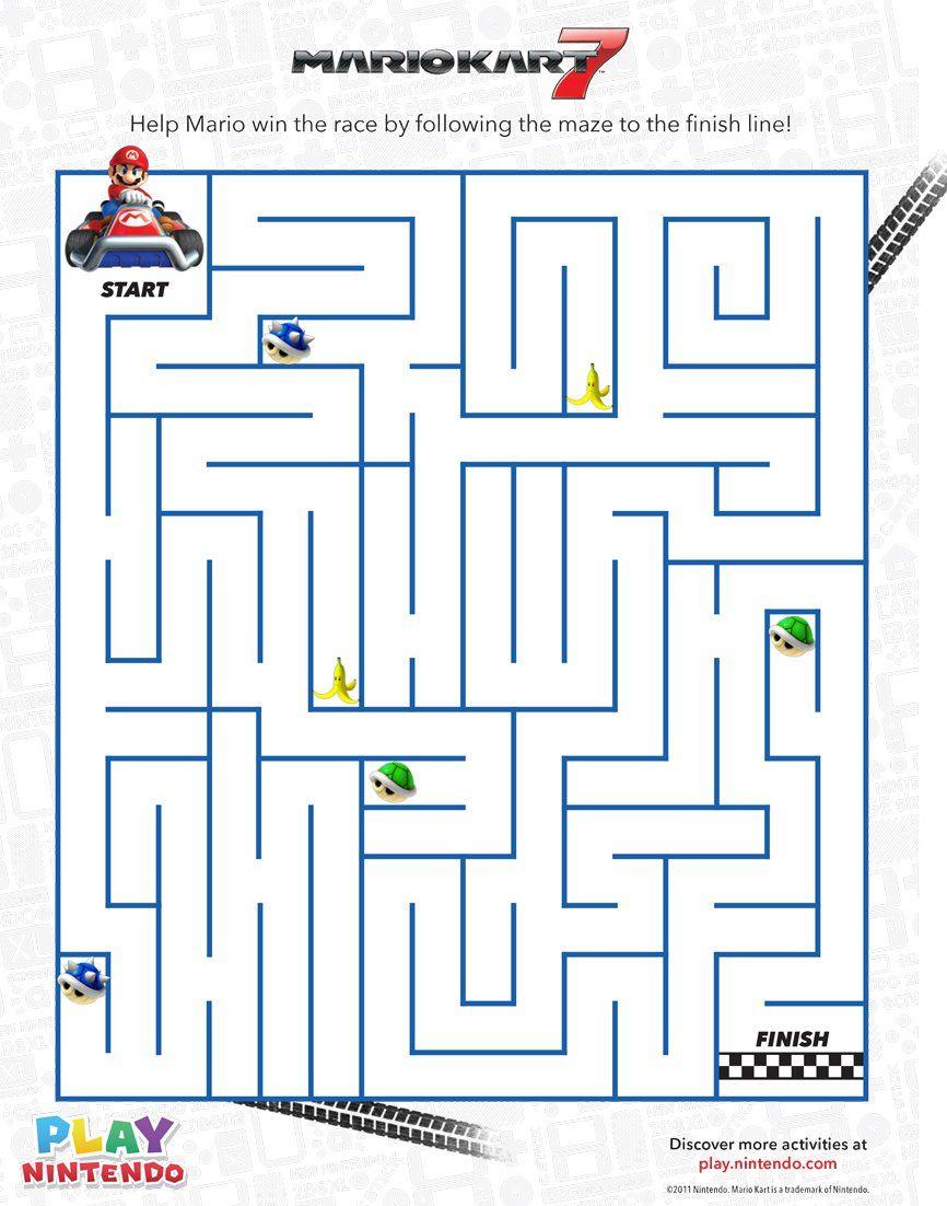 Mario Kart 7 Printable Maze Game - Play Nintendo.