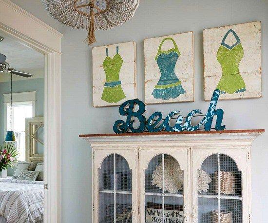 Elegant Home that Abounds with Beach House Decor Ideas Beach art