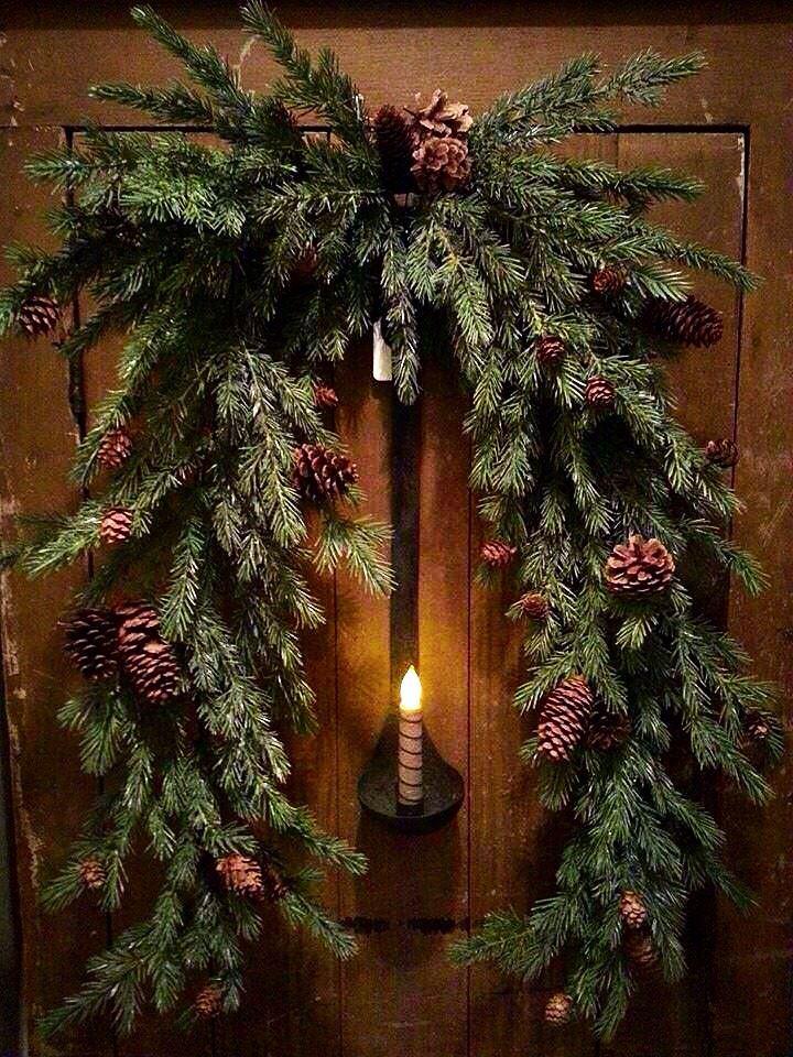 Candle Door Wreath...
