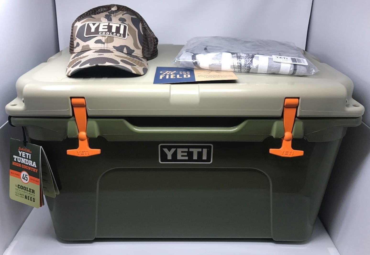 Camping Ice Boxes And Coolers 181382 New Yeti Tundra 45 Quart High Country Cooler Shirt Hat Rare Limited Edition Buy It Yeti Tundra Yeti Tundra 45 Cooler