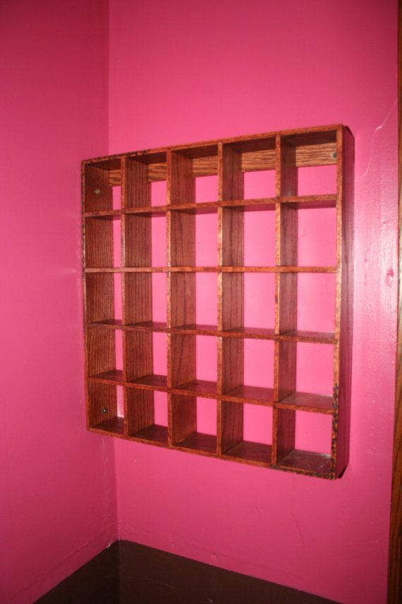 Shelf, Curio, Essential Oils or Collectibles, Wooden wall shelf ...