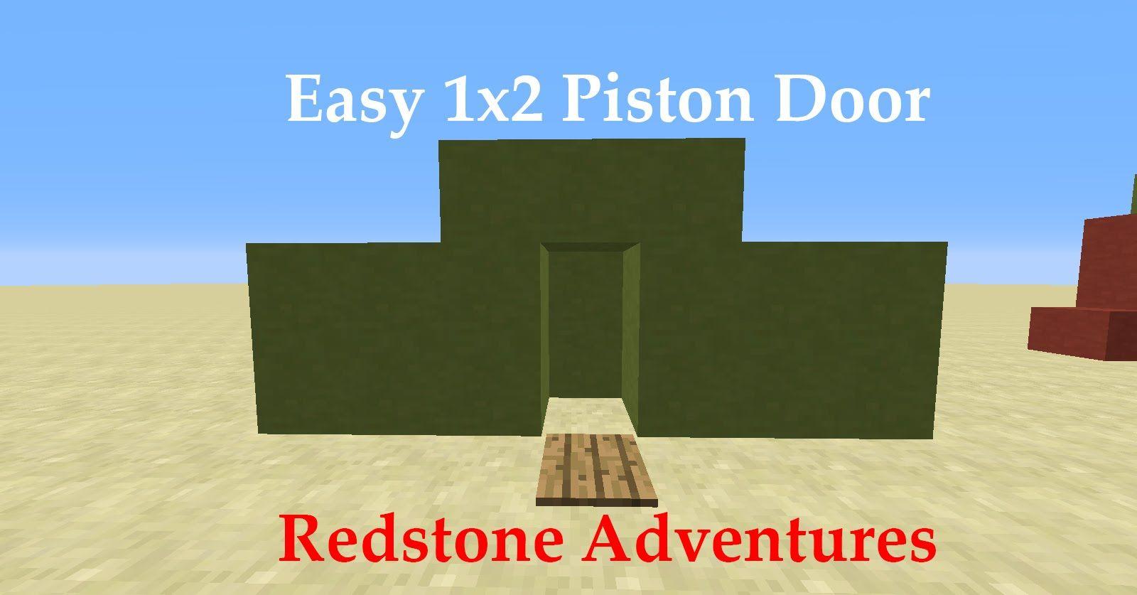 Easiest 1x2 Piston Door SloppyPlays Doors, Easy, Minecraft