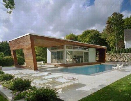 Hout En Licht Overheersen Het Wilton Pool House Zwembad Huizen Moderne Zwembaden Moderne Architectuur