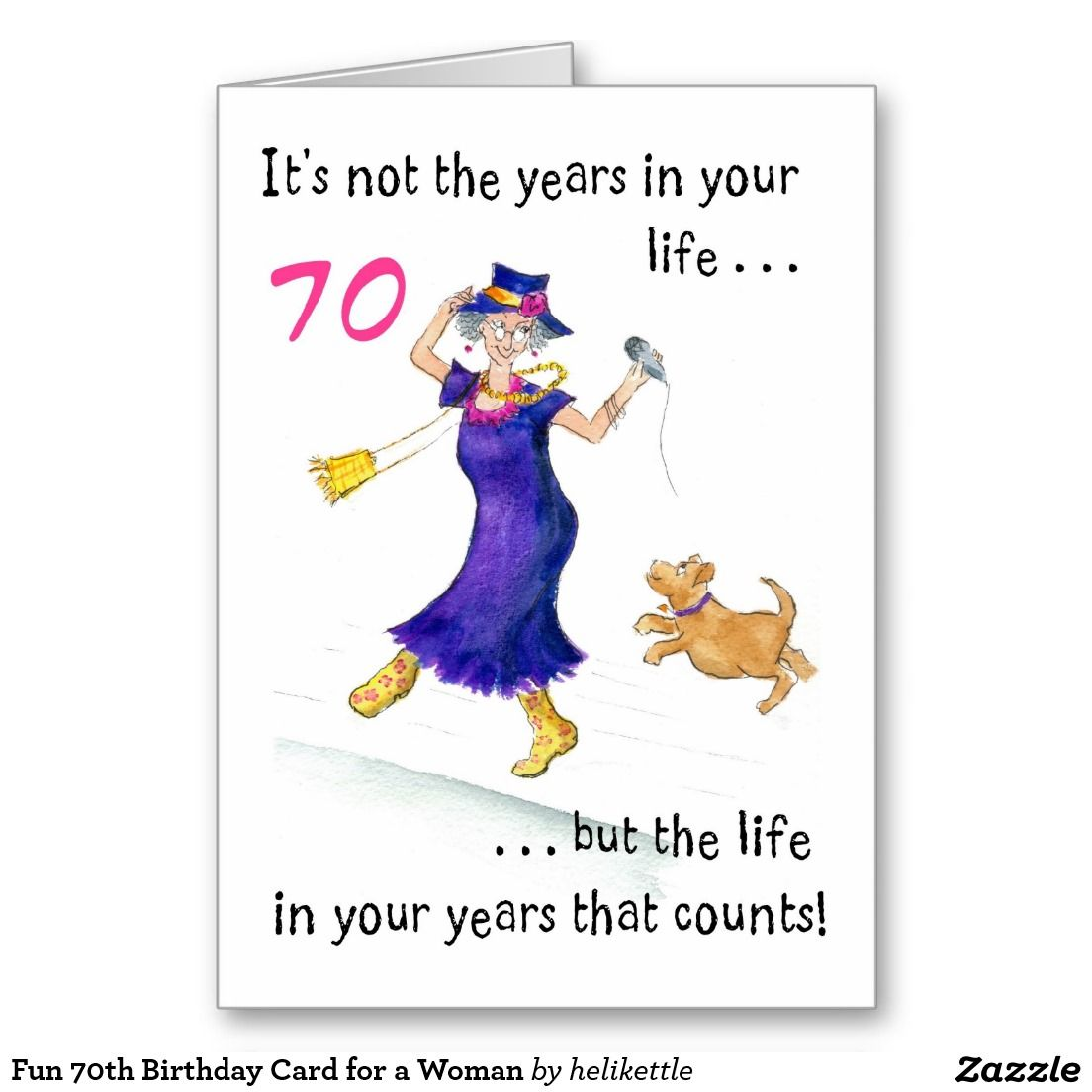 Fun 70th birthday card for a woman up to 350 httpzazzle fun 70th birthday card for a woman up to 350 bookmarktalkfo Choice Image