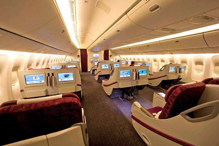 Business Class On Qatars 777 200 Now Flying To Los Angeles Image