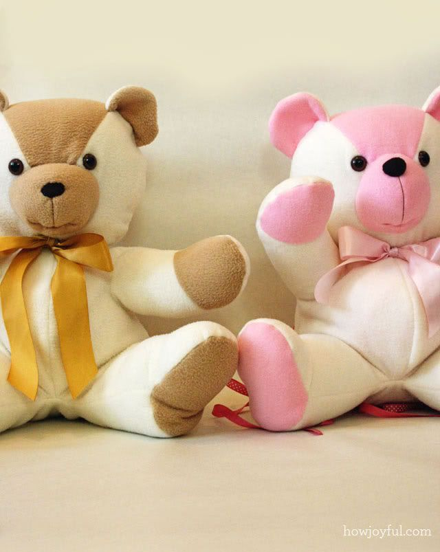 Un-bearably sweet teddies—get the free pattern and tute (How Joyful ...