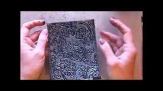 Embossed Foil Tape Technique ~ TUTORIAL ~, via YouTube.