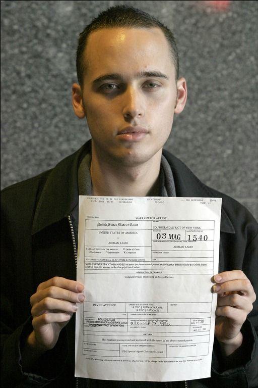 Adrian Lamo Arrest Warrant Photo Adrian Lamo All About Time Hacking Books