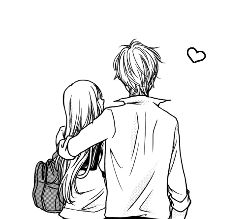 Untitled Via Tumblr On We Heart It Cute Couple Drawings Romantic Anime Couple Drawings