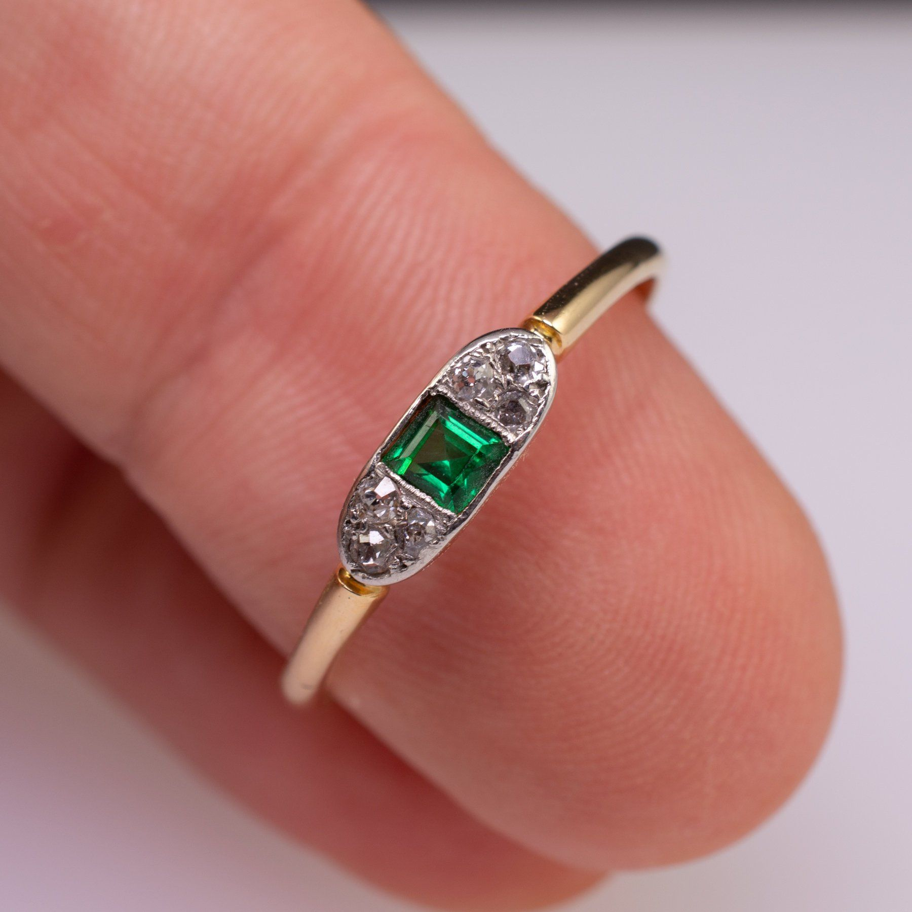 Antique 18ct Gold Diamond Solitaire Ring Dated Chester 1919 ...