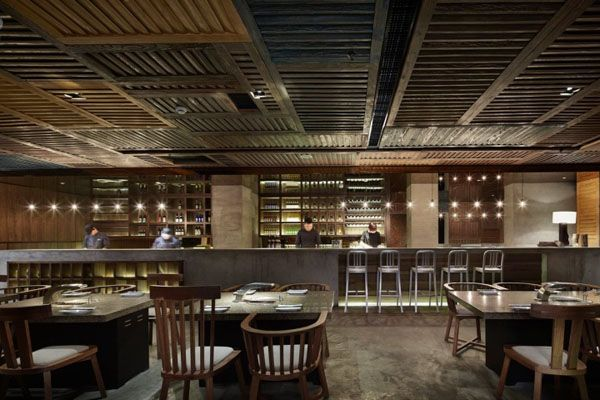 Anese Restaurant Design Based On The Contemporary Old Shanghai Style Yakiniku Master By Golucci International