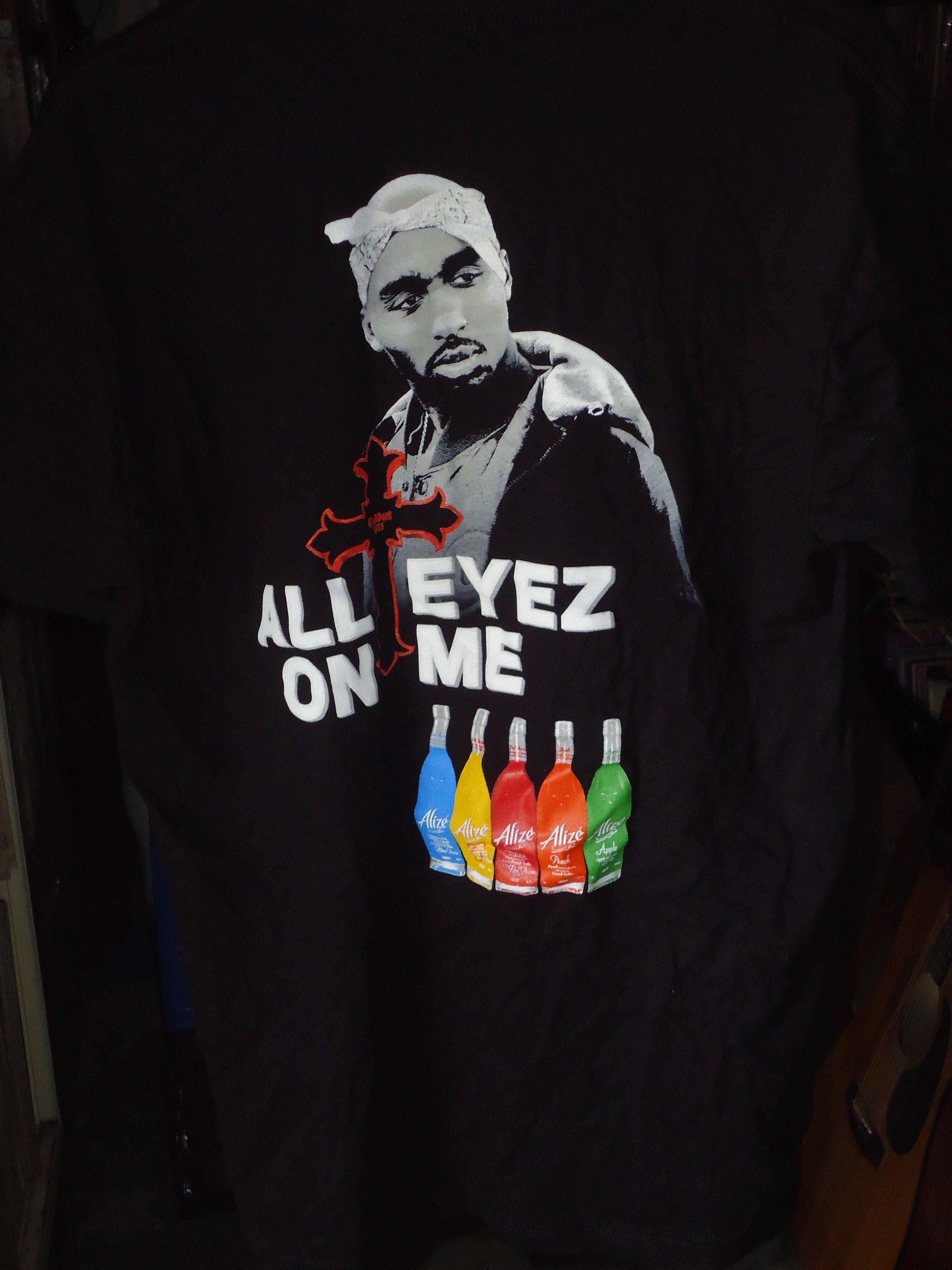52737b1a Vintage - Tupac - 2Pac - All Eyez On Me - Alize - T-shirt - Black ...