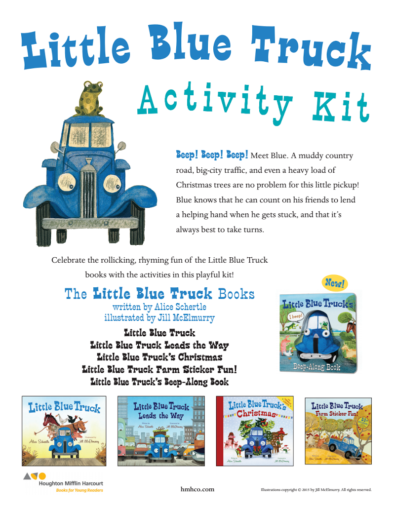 Little Blue Truck Activity Kit Littlebluetruck Activities