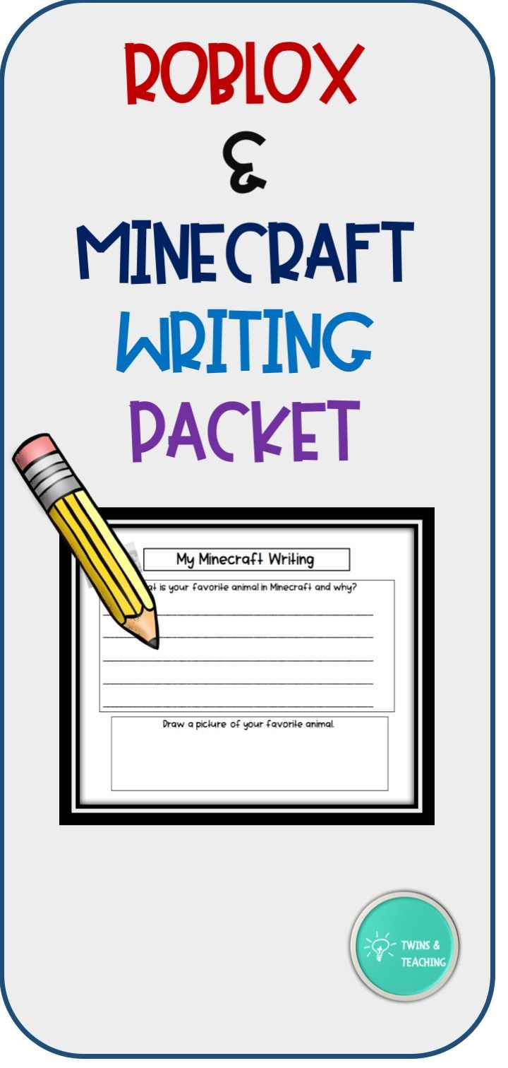 Photo of Roblox and Minecraft Writing Packet