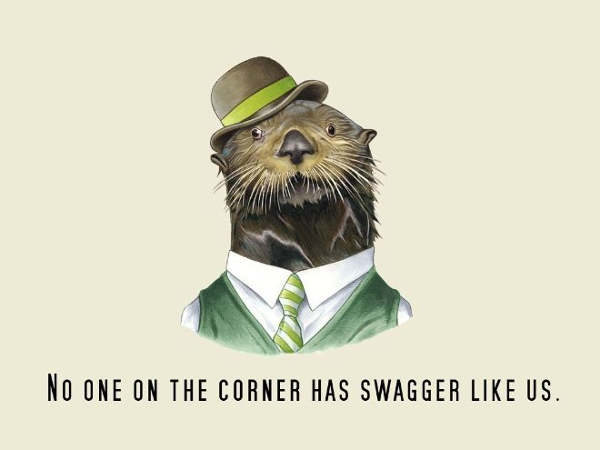 well dressed animals with rap quotes this tickles my brain