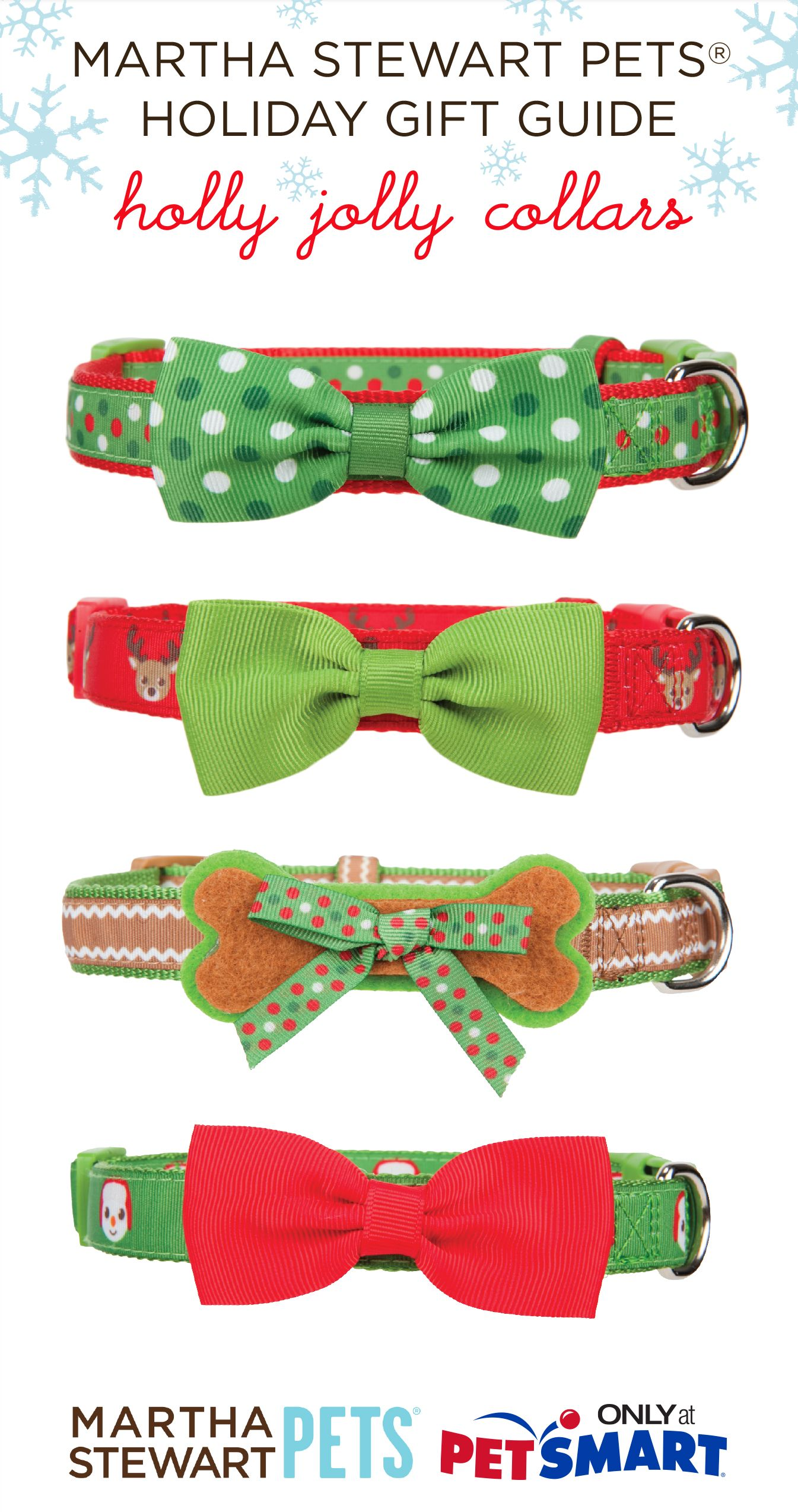 Put a bow on it! Holly jolly dog #collars from #marthastewartpets @petsmartcorp