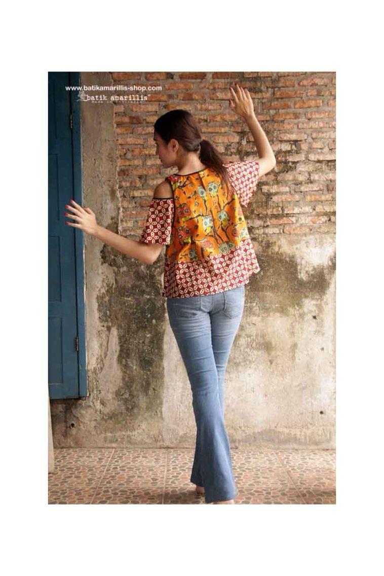 Batik amarillis made in indonesia imagens estilo